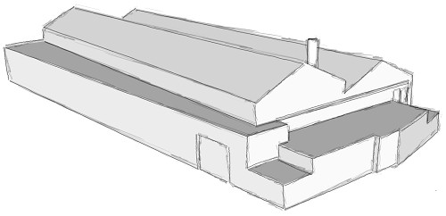 Sketched model of the Govan Shed